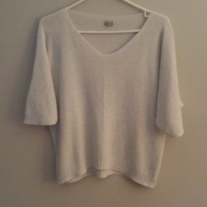 TRISTAN shimmery silver sweater  size p/s